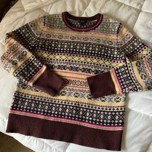 J. Crew Fair Isle Sequin Sweater